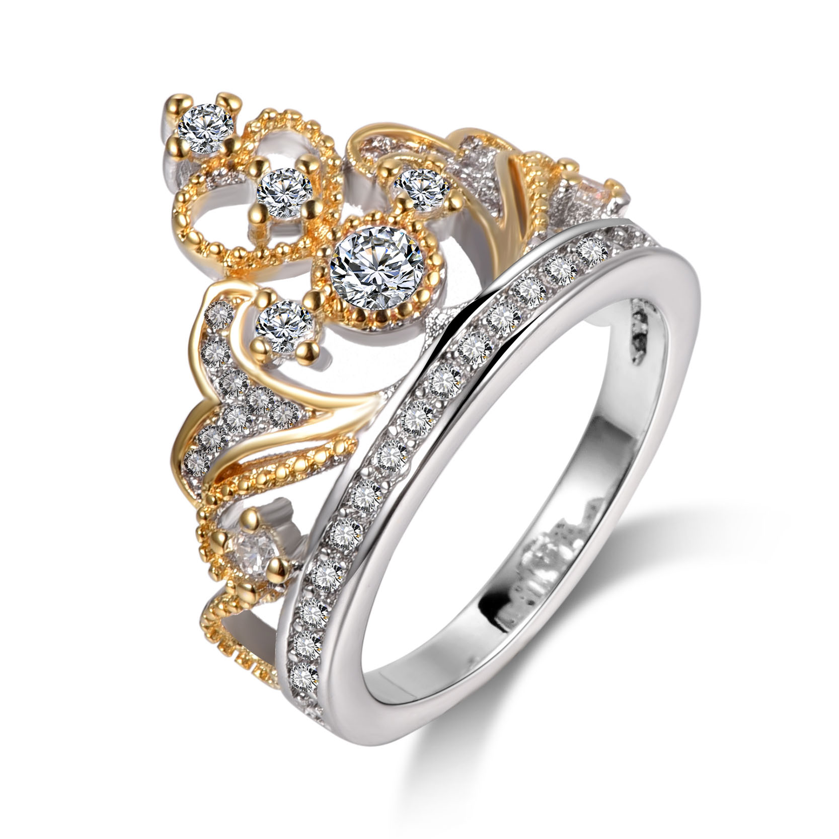 Popular Crown Promise Rings for Women-Buy Cheap Crown Promise ...