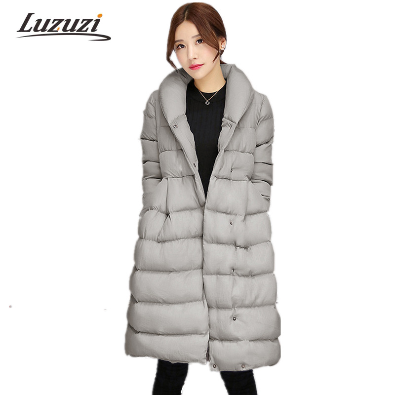 Women winter jackets Medium Long Female warm Coats Single Breasted With Belt Skirt Style Knee length Parkas Wadded Outwear WS799 Chemisier