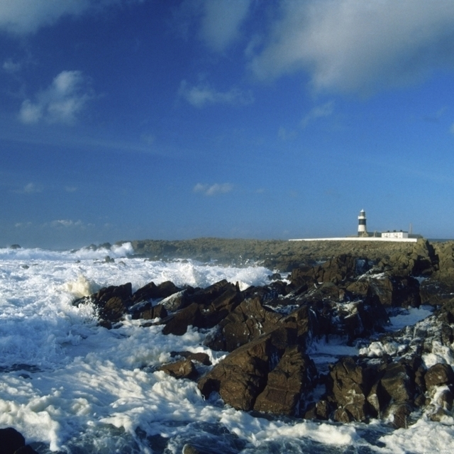 Tory Island  County Donegal  Ireland; Seascape With Lighthouse In The Distance Poster Print (36 x 24)