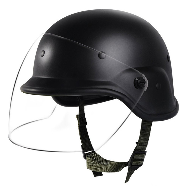 f0eb7d6d Tactical Military Airsoft M88 PASGT Kelver Helmet with Clear Visor  Personnel Armor System for Ground Troops