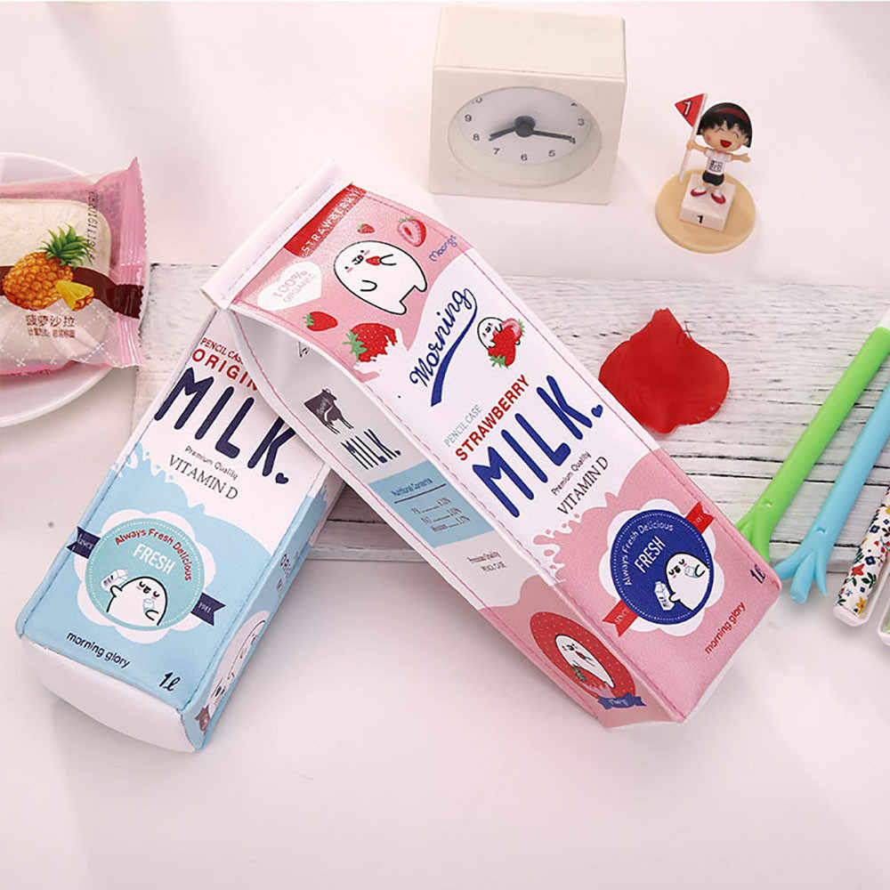 Office Stationery Cute  Pencil Case CreativeMilk Pencil Bag For Kids Gift Novelty Item D329
