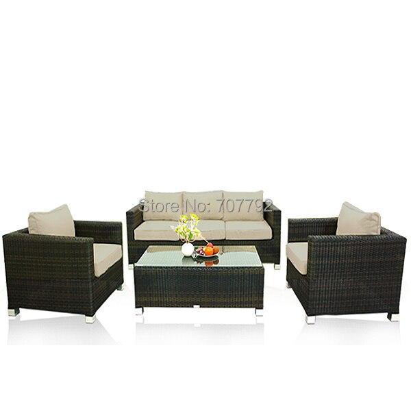 2017 diseños modernos Piscina lujo Muebles Sets sofás cuadrados en ...