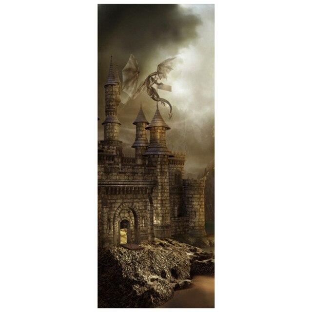 77 200 Cm Harry Potter Film Affiche Magic Castle 3d Vinyle Porte