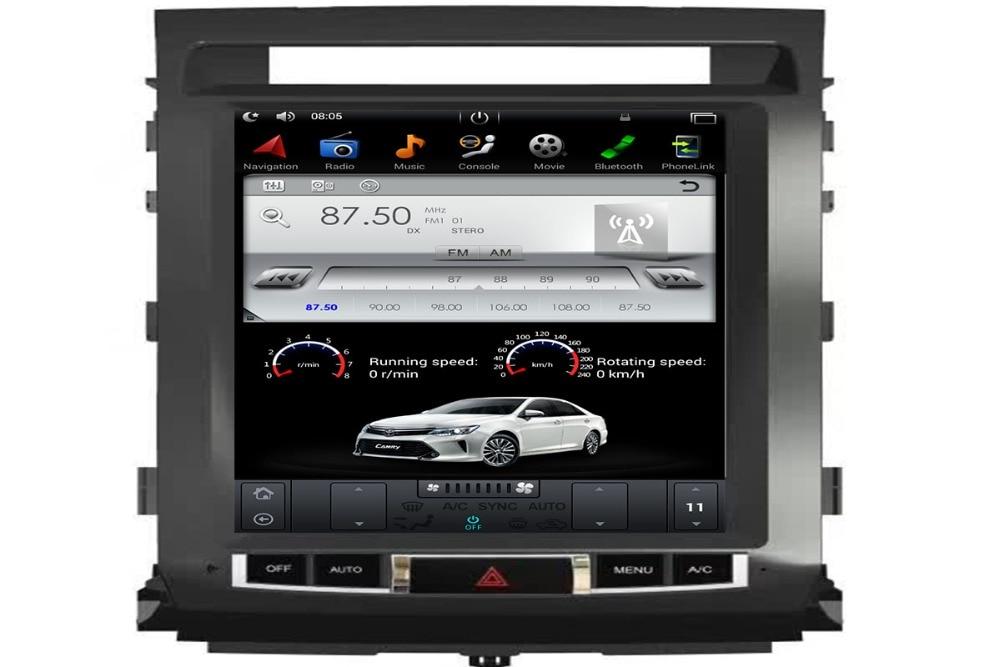 12.1 Pouces Tesla Style 2 Din autoradio navigation gps Android 6.0 Voiture navigation gps lecteur dvd pour LAND CRUISER LC200 2008-2015