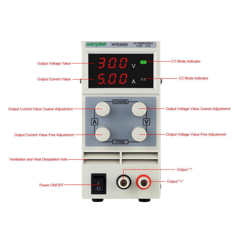 3 ספרות LED DC מיתוג אספקת חשמל משתנה מתח רגולטור מתכוונן כוח בנק 0-30V 5A AC 110 v/220 V 50/60Hz
