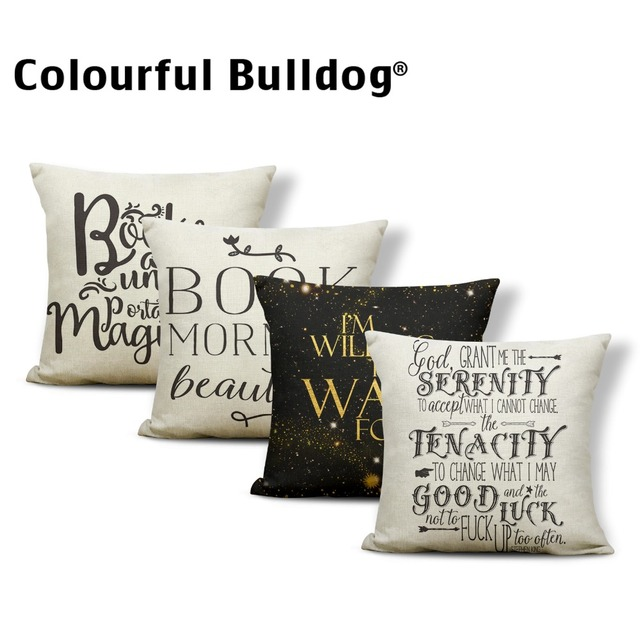 Word Arrow Cushion Covers Love Sentence Pillow Cushion Case Abstract
