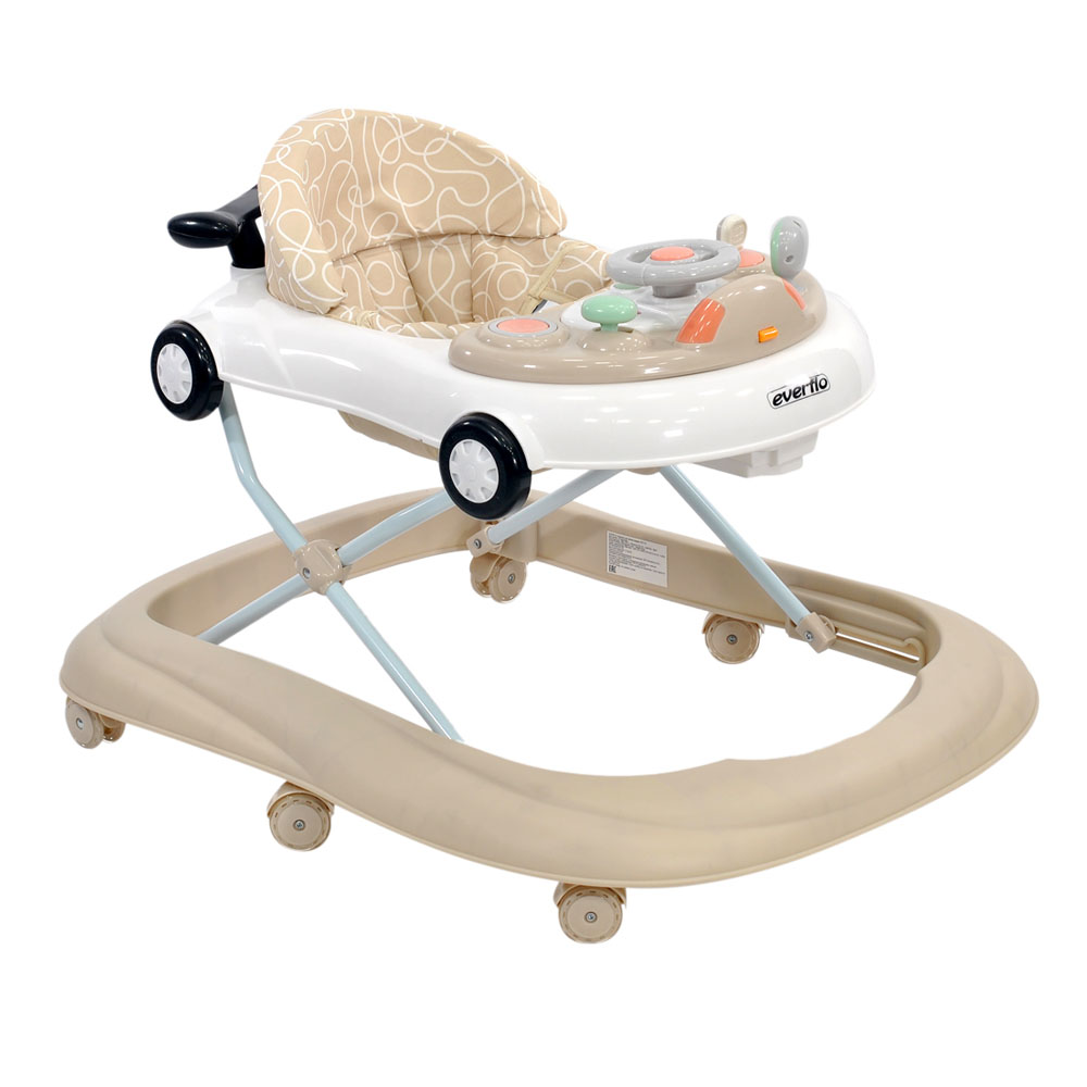 Walkers Everflo WT715  a wheelchair for a child jumpers rocking for boys and girls children baby learning to walk Stainless Steel Beige