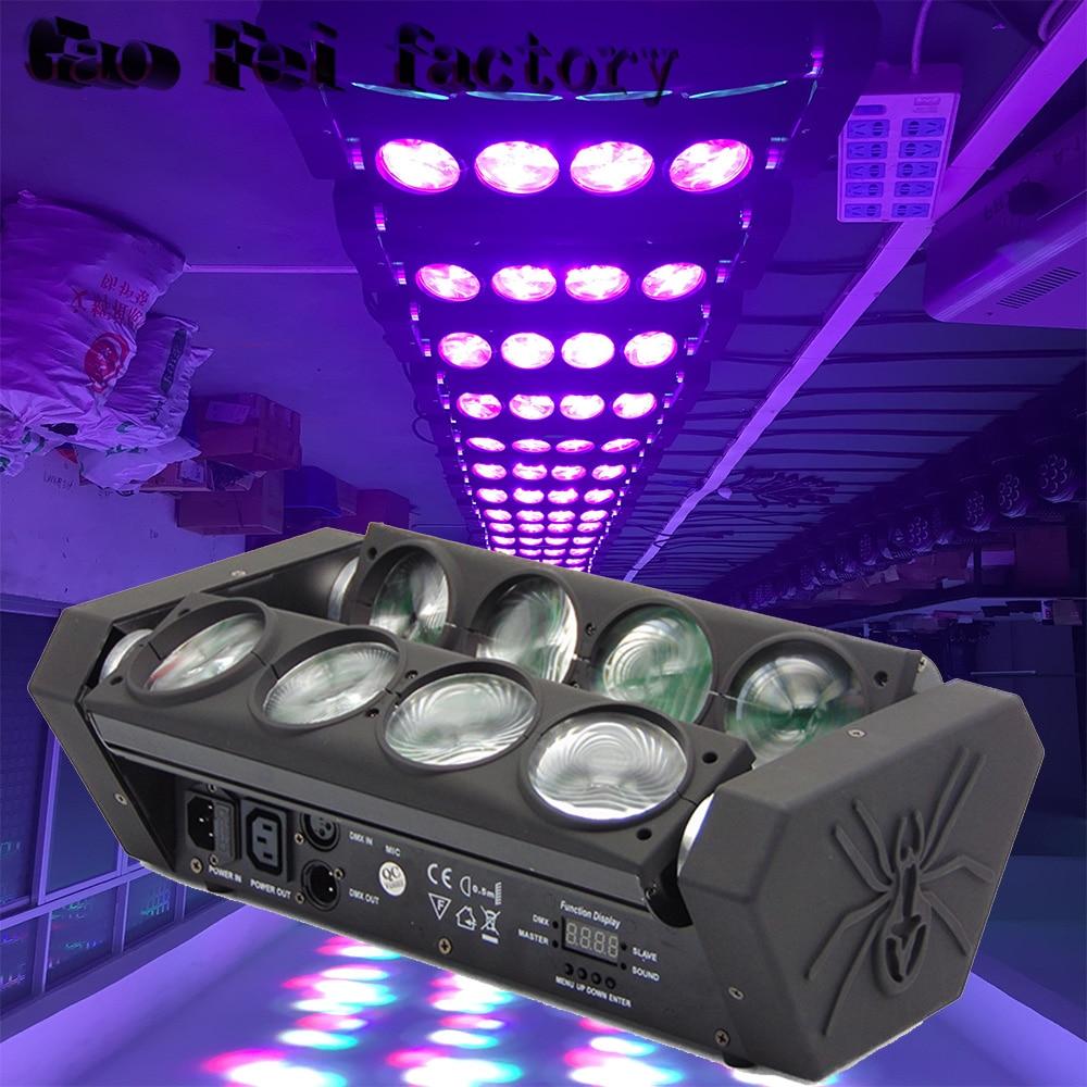 (1PCS) 8*12W DJ Led Spider Moving Head Light LED  Stage Effect Show Beam Moving Head Light