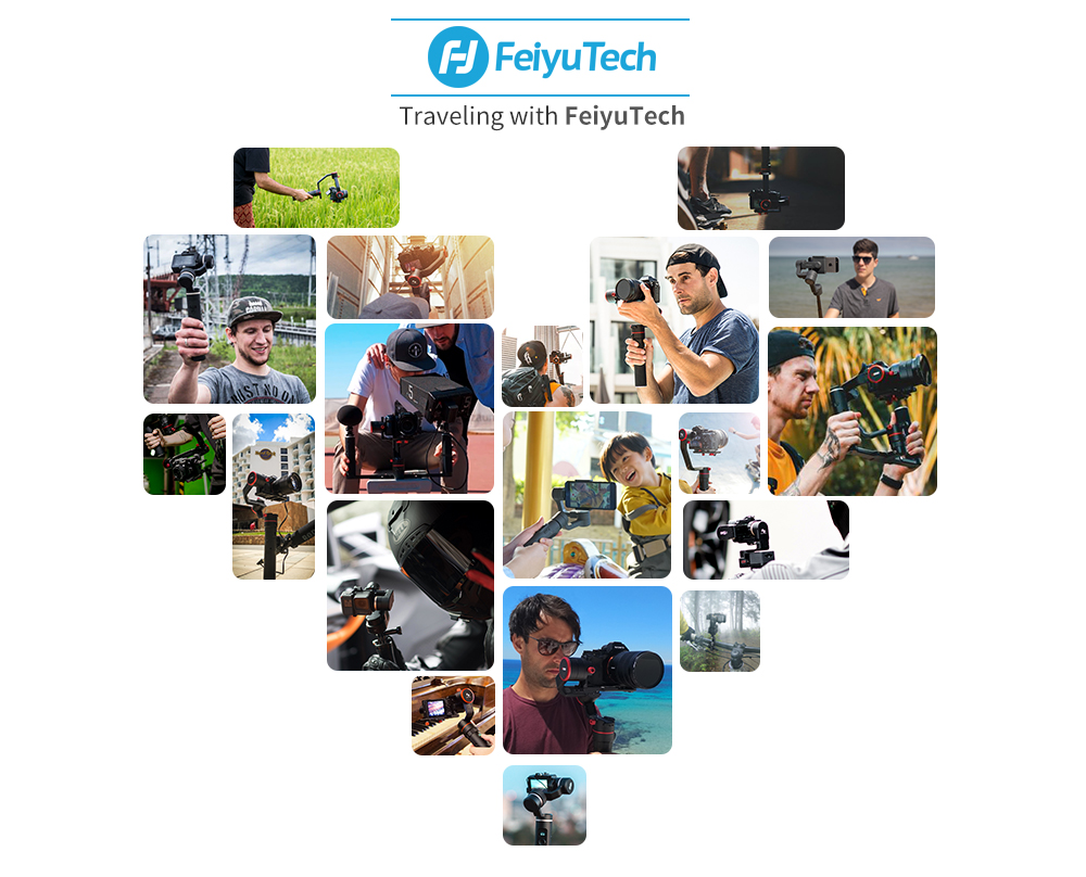 FeiyuTech G6 Plus 3-Axis Handheld Gimbal Stabilizer for Mirrorless Camera Pocket Camera GoPro Smartphone Payload 800g Feiyu G6P 17