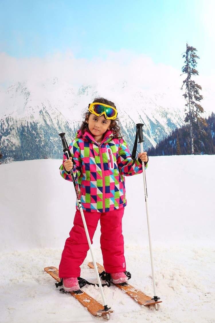 1d625524ff Rusia-30 grados niños ropa de invierno conjunto chaquetas a prueba de viento  + pantalón niños invierno nieve trajes niñas al aire libre cálido traje de  ...