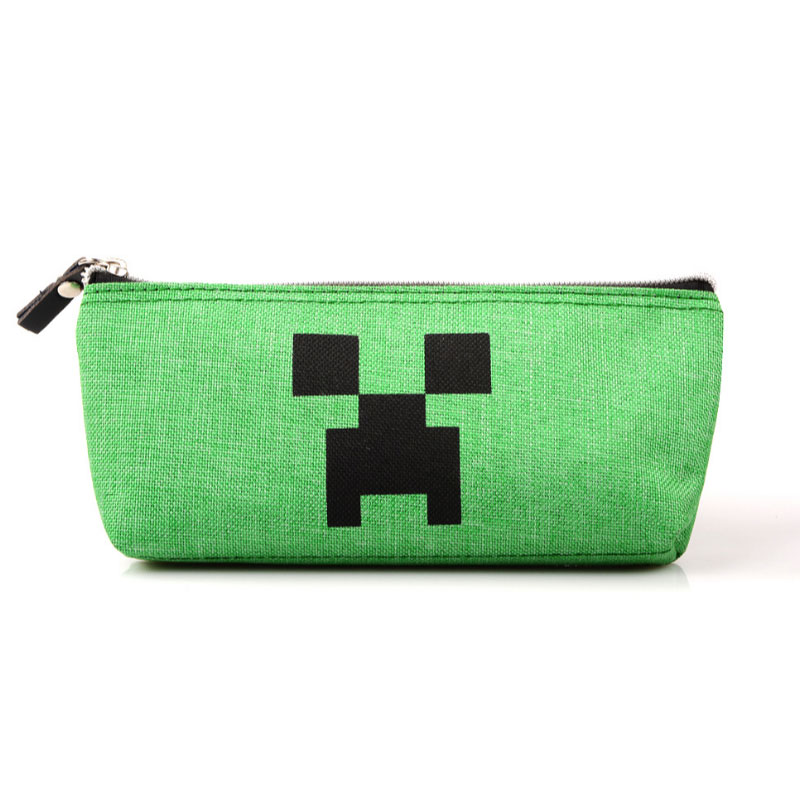 Minecraft School Pencil Case Cute Kawaii Big Capacity Pencil Bag Box For Boys Girls Kids Stationery School Supplies big capacity high quality canvas shark double layers pen pencil holder makeup case bag for school student with combination coded lock