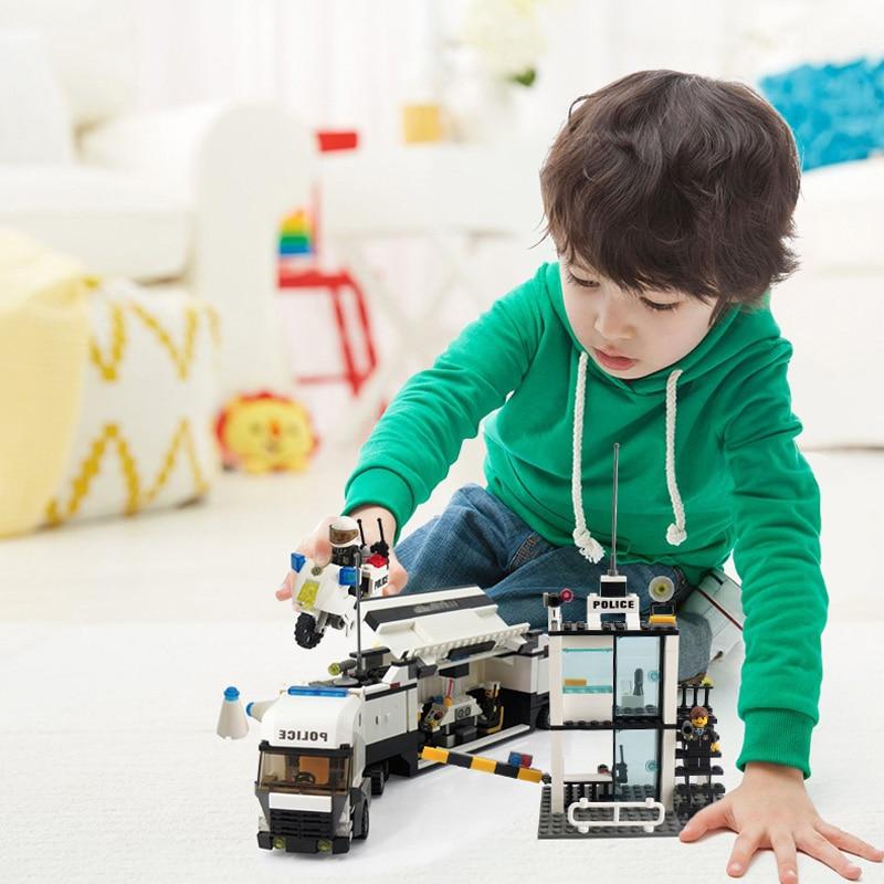 KAZI Bina Blokları Polis Bölməsi Model Bina Blokları Uyğun Legoe - Uşaq konstruktorları - Fotoqrafiya 5