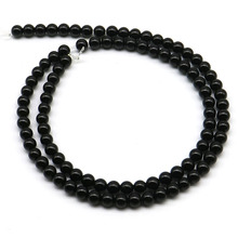 4mm 6mm 8mm High quality Natural Stone beads Pretty Black Onyx Round Loose beads bracelet beads DIY for jewelry making