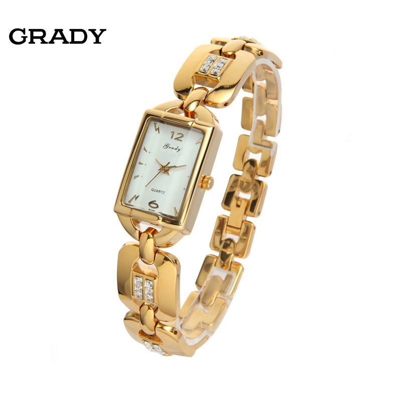women rhinestone fashion quartz watch good quality water resistant women dress watch