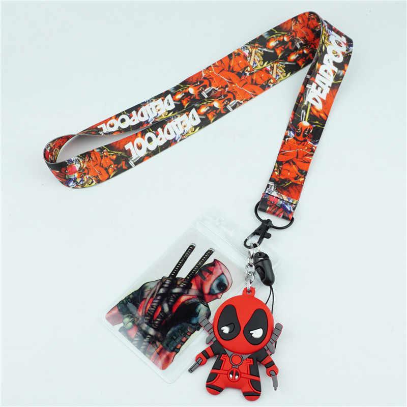 Супергерой Дэдпул шейный ремень для ключей ID карты ТРЕНАЖЕРНЫЙ зал мобильный телефон ремень USB держатель значок веревка кулон брелок подарок
