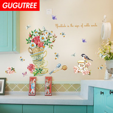 Decorate bird flower buttlefly art wall sticker decoration Decals mural painting Removable Decor Wallpaper LF-1758