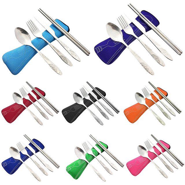 4 Pcs Stainless Steel Fork Spoon Set 2