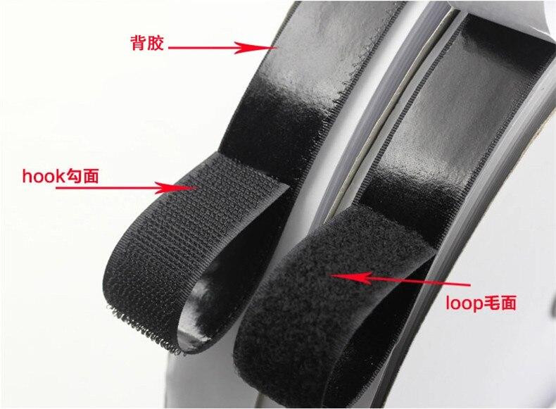 1yard Hook and Loop Strong Self Adhesive Fastener Strong Tape Designer sticking band linking Tape Magic Tape Hook & Loop
