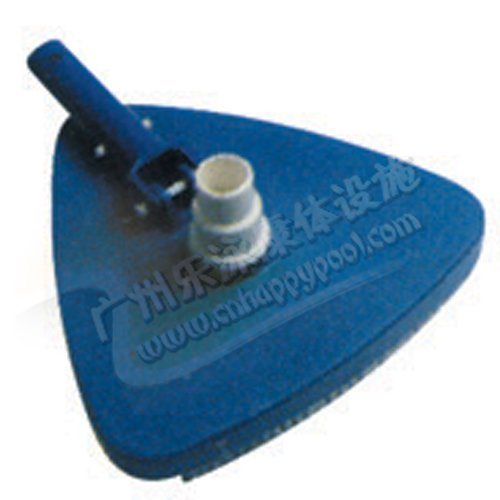 Flexible Concrete Pool Vacuum Head Triangle with Brush