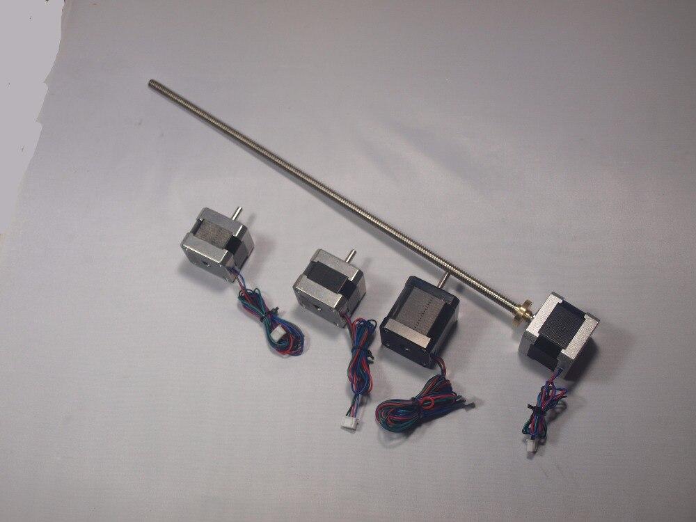 Blurolls ultimaker 2 Estesa X/Y/Z axis + estrusore stepper motor kit/set per il FAI DA TE 400 m L Z-Motore con Trapezoidale Vite di Comando