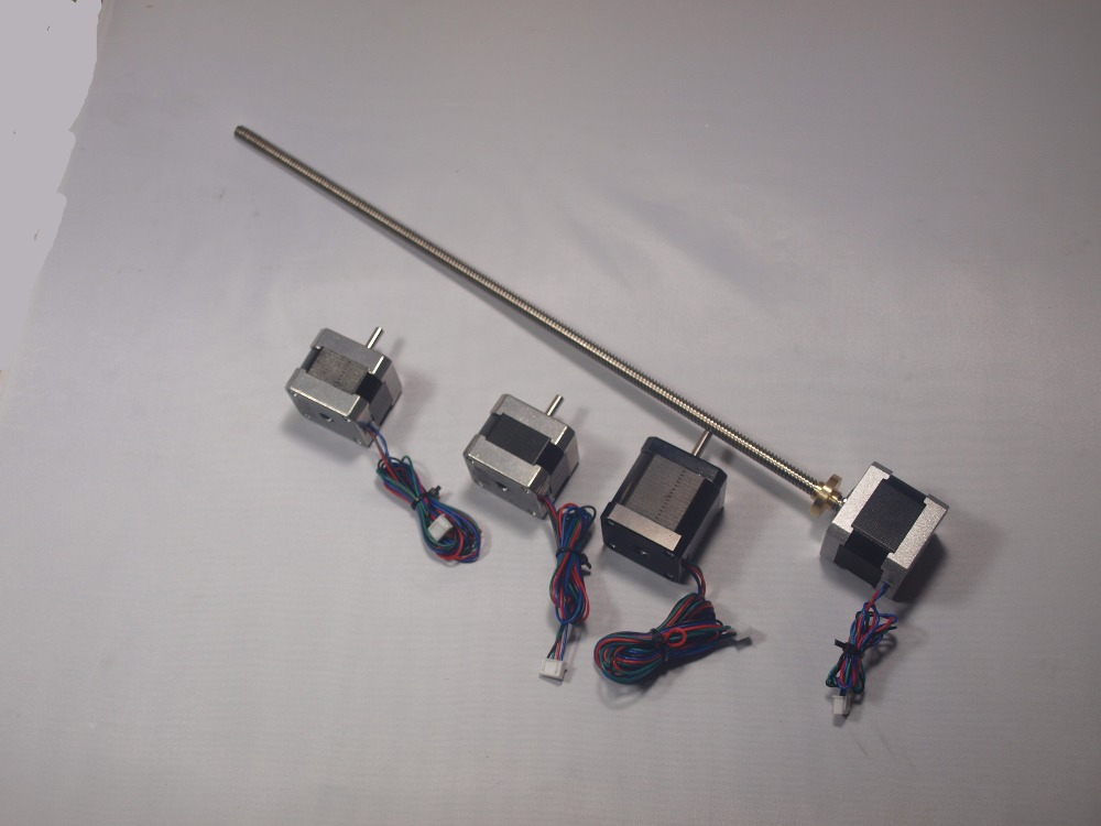 Blurolls ultimaker 2 Prolongée X/Y/Z axe + extrudeuse kit moteur pas à pas/set pour le BRICOLAGE 400 m L Z-Moteur avec Trapézoïdale Plomb Vis