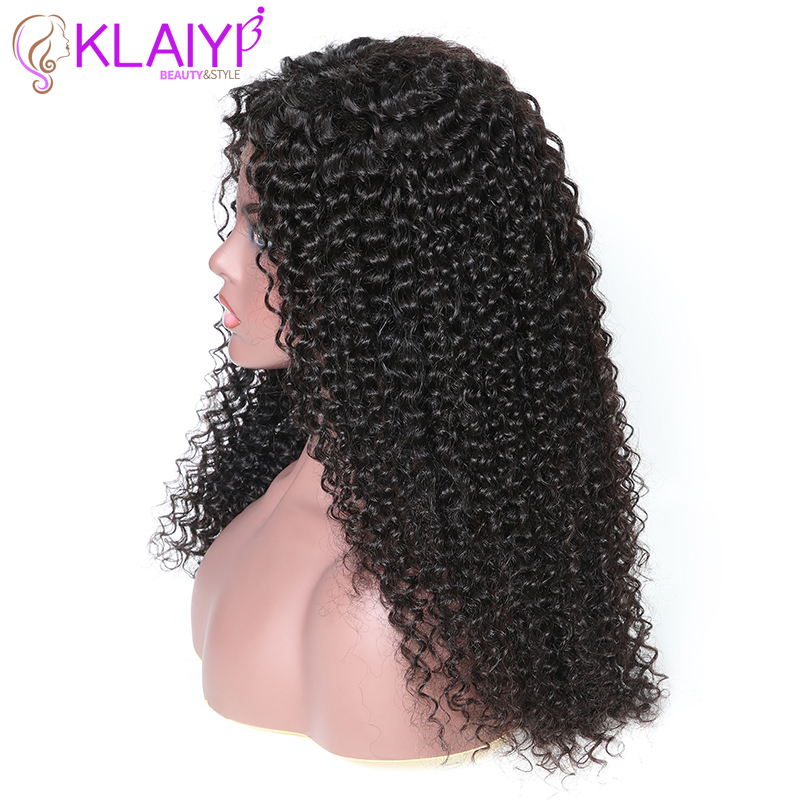 Image 4 - Klaiyi Hair Curly Hair Lace Front Wigs 13*6 Inch Brazilian Remy Hair With Pre Plucked 150% Denisty Human Hair Wig 10'' 24''-in Lace Front Wigs from Hair Extensions & Wigs