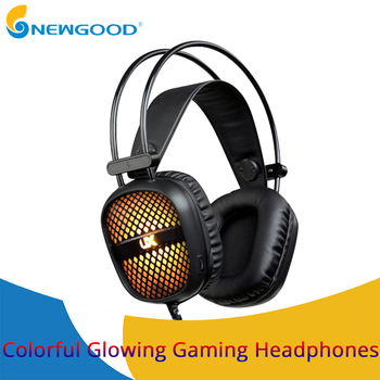 Wired Gaming Headset Deep Bass Game Earphone Computer headphones with microphone led light headphones for computer pc