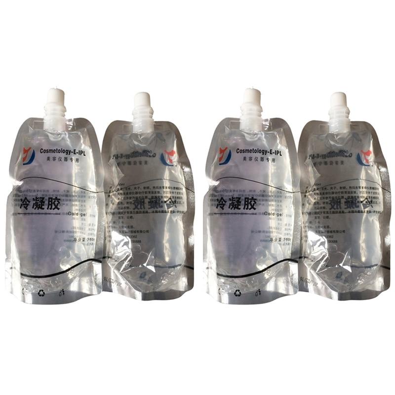 Elight IPL Laser Cold Gel Skin Rejuvenation HIFU RF Cavitation Slimming Gel For All Beauty Machines 250ML 3pcs/Lot CE