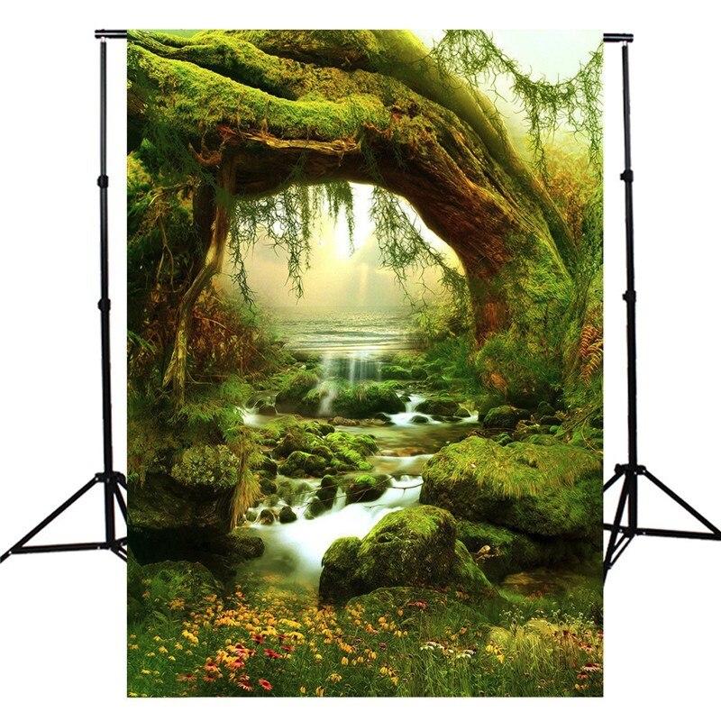 3x5ft Лесная Сказка Природа Фотография Фон Для Studio Фотография Реквизит винил Фотографические Фонов ткани 90 х 150 см