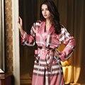 Высокое Качество 2016 Новые Поступления Женщин Пижамы Повседневная Шелковый Халат Элегантный Гостиная Женщин Пижамы СПА Халаты Пижамы для Женщин Pijama