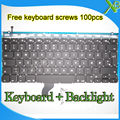 """Las Novedades Para El MacBook Pro Retina 13.3 """"A1502 Dinamarca DK teclado Retroiluminado teclado + Backlight + 100 unids tornillos 2013-2015 Años"""