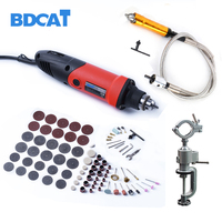 BDCAT 400W Mini Electric Drill Dremel With 6 Position Variable Speed Dremel Style Rotary Tools Mini