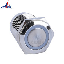 Di Off Sejenak 12V Cincin LED Tahan Air 1NO Pendek 16 Mm Tombol(China)