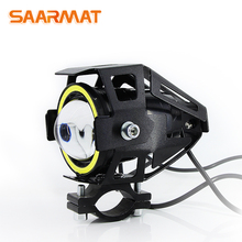 1 Piece Led Strobe motorcycle Motorbike headlight external auxiliary font b lamp b font Hi Lo