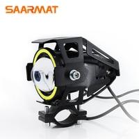1 unidad de faro LED estroboscópico para motocicleta/motocicleta  lámpara auxiliar externa Hi/Lo  luz de conducción  luces de niebla DRL 12V para ktm exc light 12v -