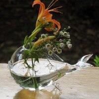 Betty Store 12pcs/pack Diameter=10cm Fish Shaped Glass Vase Home Decoration Fish Shaped Terrarium Vase Airpalnt Glass Bottle