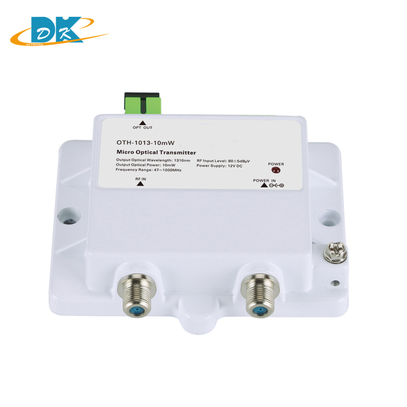 DK-1013-10mW Micro Optical Transmitter FTTH 12V CATV Mini Micro Transmitter 47-1000MHZ 1310nm 1550nm Optical Fiber With SC/APC
