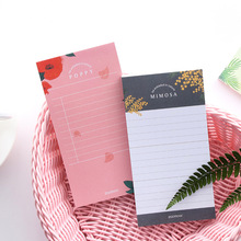 цена Flower Language Creative Study&Work Plan Paper Notes  Book Post Memo Pad Kawaii Stationery Office Accessory School Supplies онлайн в 2017 году