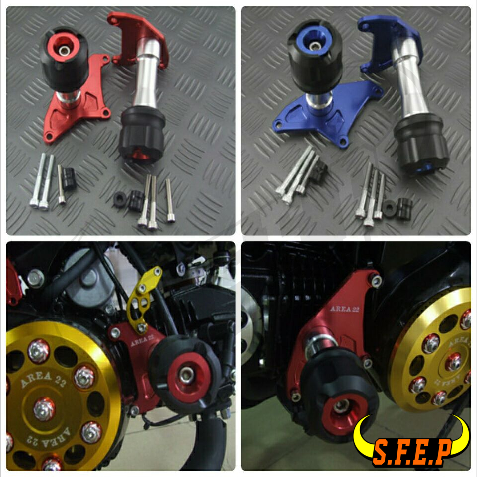 Motorcycle CNC Engine Crash Protectors For Honda Grom MSX125 MSX125SF for honda msx125 msx125sf 2013 2014 2015 2016 blue cnc motor engine guard cover motorcycle engine wrestling decorative cover