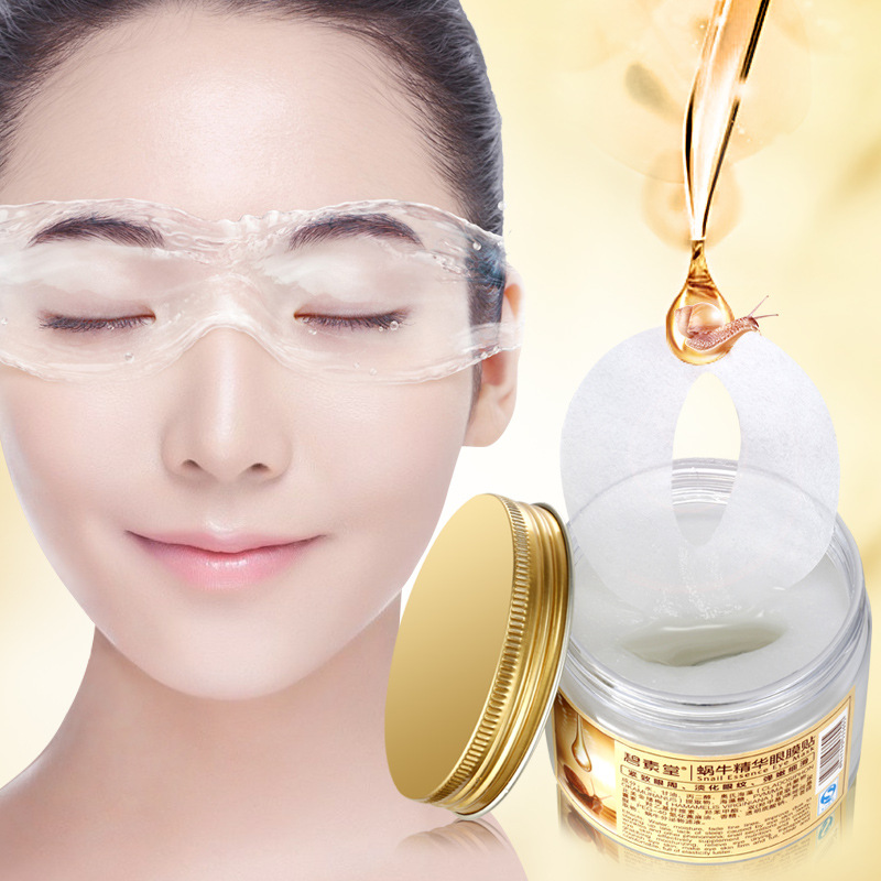 80pc/lot Snail Essence Eye Mask Anti-Puffiness Dark Circle Moisturizing Whitening Collagen Gel Whey Protein Patches Mascaras