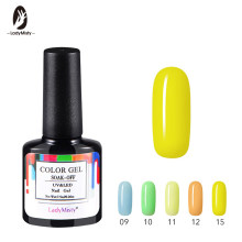 Ladymisty 24 Colorido 01-24 UV LED Soak-off Gel Nail Polish Nail Art Gel Unha Polonês Semi permanente Gel Vernizes Gel Lak 7.5 ML(China)