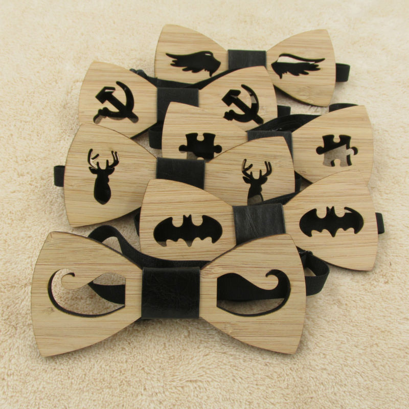 Bow Tie Accessory Wedding Gifts Bamboo Wood Bowtie For Men