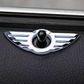 2 Pcs Car Styling Insignia Emblem Wings Stickers Decoration Accessories For BMW Mini Cooper R55 R56 R57 R58 R59 Door Lock Knobs