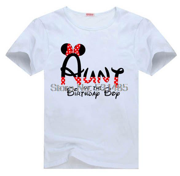 Mouse Aunt Birthday Party Shirt Matching Family Shirts For Kids Children Boy Girl Cartoon T