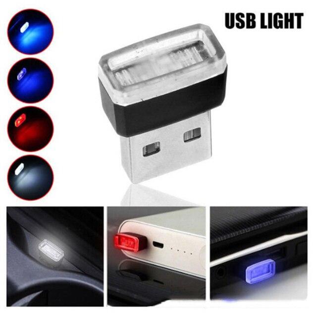 1 stücke Auto-Styling USB Atmosphäre LED Licht Auto Zubehör Für Mercedes Benz A200 A180 B180 B200 CLA GLA AMG EINE B C E S Klasse CLS