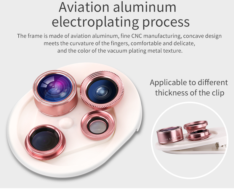 Fish eye Lens 4in 1 Clip-on Cell Phone Camera 180 Degree Fisheye Lens+Wide Angle CPL+Macro Lens for iPhone 7Plus Xiaomi & More 29