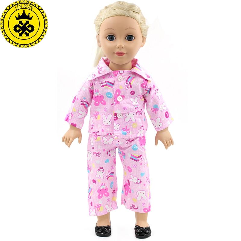 Children Handmade American Girl Pink Suit Doll Clothes Fit 18 inch American Girl Doll Clothes Baby Birthday Gift MG-023 18 inches american girl doll baby doll clothes accessories handmade christmas suit