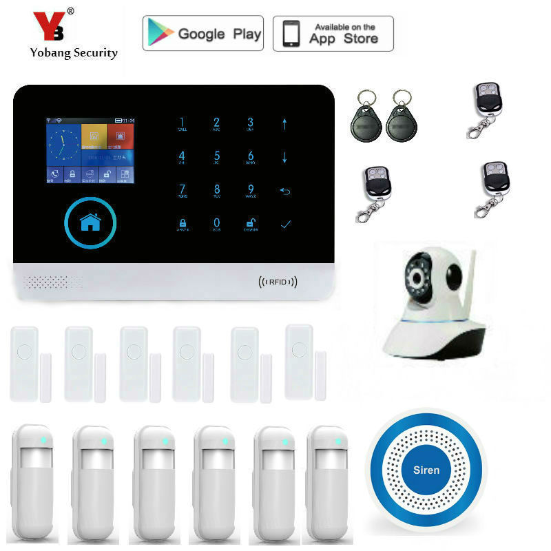 Yobang Security GSM Alarm System APP Remote Control Smart Home Intelligent GSM GPRS SMS Wifi Alarm System Security wifi alarm internet gsm gprs sms oled home house security alarm system app control ip camera wifi app integrated in alarm app