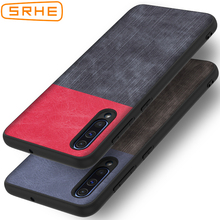 SRHE For Samsung Galaxy A50 Case Cover 6.4 inch PU Leather and Denim Soft Silicone Full Back Cover For Samsung A50 SM-A505F A505 ветровики skyline opel astra j sd 12