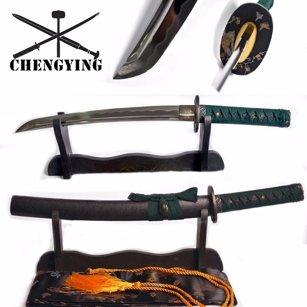 Håndsmidd quenched 9260 Spring Steel Blade Japanese Katana Tanto Sword a Sharp Sword
